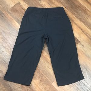 Royal Robbins Cropped Trail Cargo Pants Black Sz 6